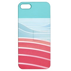 Wave Waves Blue Red Apple iPhone 5 Hardshell Case with Stand