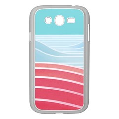 Wave Waves Blue Red Samsung Galaxy Grand DUOS I9082 Case (White)