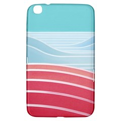 Wave Waves Blue Red Samsung Galaxy Tab 3 (8 ) T3100 Hardshell Case