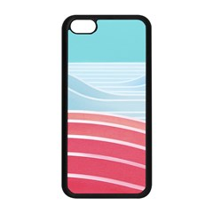 Wave Waves Blue Red Apple iPhone 5C Seamless Case (Black)
