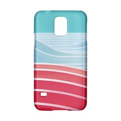 Wave Waves Blue Red Samsung Galaxy S5 Hardshell Case