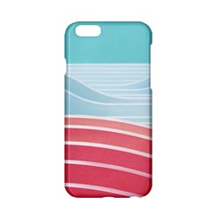 Wave Waves Blue Red Apple iPhone 6/6S Hardshell Case