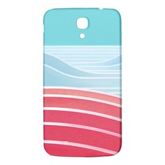 Wave Waves Blue Red Samsung Galaxy Mega I9200 Hardshell Back Case