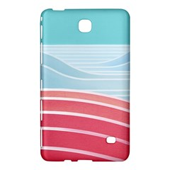 Wave Waves Blue Red Samsung Galaxy Tab 4 (7 ) Hardshell Case