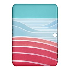 Wave Waves Blue Red Samsung Galaxy Tab 4 (10.1 ) Hardshell Case
