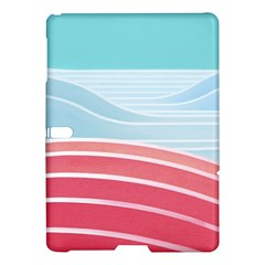 Wave Waves Blue Red Samsung Galaxy Tab S (10 5 ) Hardshell Case