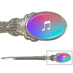Tunes Sign Orange Purple Blue White Music Notes Letter Openers