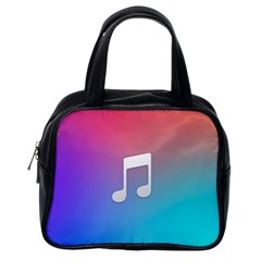 Tunes Sign Orange Purple Blue White Music Notes Classic Handbags (One Side)