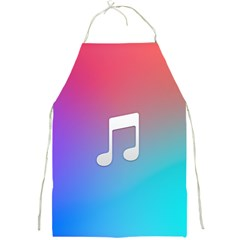 Tunes Sign Orange Purple Blue White Music Notes Full Print Aprons