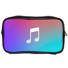 Tunes Sign Orange Purple Blue White Music Notes Toiletries Bags