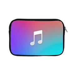 Tunes Sign Orange Purple Blue White Music Notes Apple iPad Mini Zipper Cases