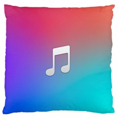 Tunes Sign Orange Purple Blue White Music Notes Standard Flano Cushion Case (Two Sides)
