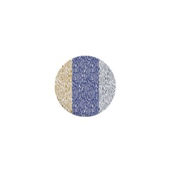 Flower Floral Grey Blue Gold Tulip 1  Mini Buttons