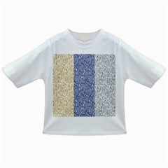 Flower Floral Grey Blue Gold Tulip Infant/toddler T Shirts
