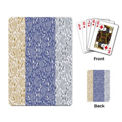 Flower Floral Grey Blue Gold Tulip Playing Card