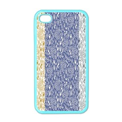 Flower Floral Grey Blue Gold Tulip Apple iPhone 4 Case (Color)