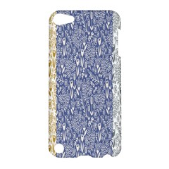 Flower Floral Grey Blue Gold Tulip Apple iPod Touch 5 Hardshell Case