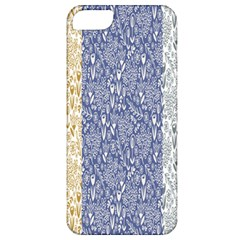 Flower Floral Grey Blue Gold Tulip Apple iPhone 5 Classic Hardshell Case