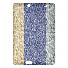 Flower Floral Grey Blue Gold Tulip Amazon Kindle Fire HD (2013) Hardshell Case