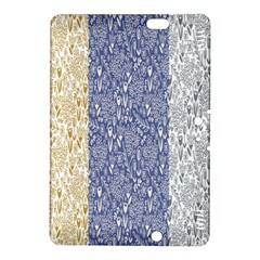 Flower Floral Grey Blue Gold Tulip Kindle Fire HDX 8.9  Hardshell Case