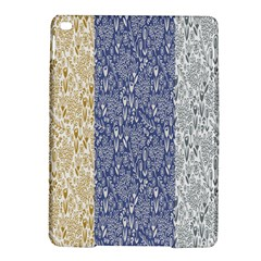 Flower Floral Grey Blue Gold Tulip iPad Air 2 Hardshell Cases