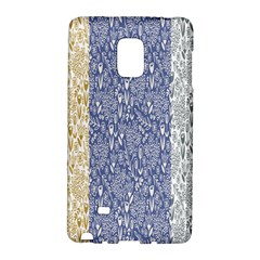 Flower Floral Grey Blue Gold Tulip Galaxy Note Edge