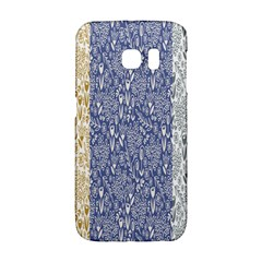 Flower Floral Grey Blue Gold Tulip Galaxy S6 Edge