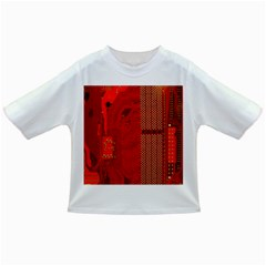 Computer Texture Red Motherboard Circuit Infant/Toddler T-Shirts