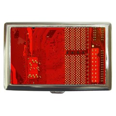 Computer Texture Red Motherboard Circuit Cigarette Money Cases