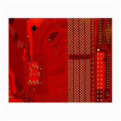 Computer Texture Red Motherboard Circuit Small Glasses Cloth