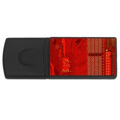 Computer Texture Red Motherboard Circuit Usb Flash Drive Rectangular (4 Gb)