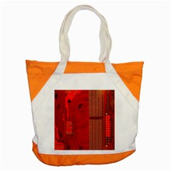 Computer Texture Red Motherboard Circuit Accent Tote Bag