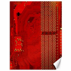 Computer Texture Red Motherboard Circuit Canvas 36  x 48