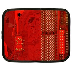 Computer Texture Red Motherboard Circuit Netbook Case (Large)
