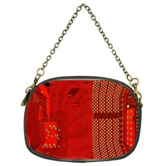 Computer Texture Red Motherboard Circuit Chain Purses (two Sides)