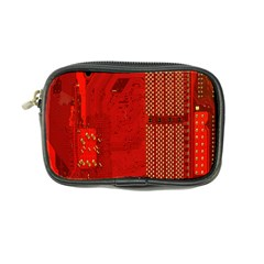 Computer Texture Red Motherboard Circuit Coin Purse