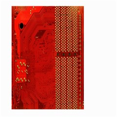 Computer Texture Red Motherboard Circuit Large Garden Flag (Two Sides)