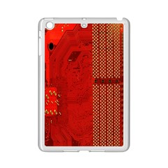 Computer Texture Red Motherboard Circuit iPad Mini 2 Enamel Coated Cases