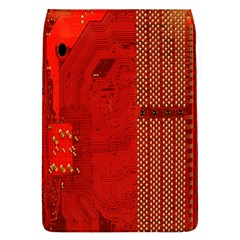 Computer Texture Red Motherboard Circuit Flap Covers (L)