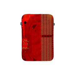 Computer Texture Red Motherboard Circuit Apple iPad Mini Protective Soft Cases