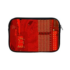 Computer Texture Red Motherboard Circuit Apple iPad Mini Zipper Cases