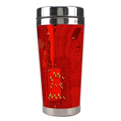 Computer Texture Red Motherboard Circuit Stainless Steel Travel Tumblers