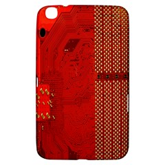 Computer Texture Red Motherboard Circuit Samsung Galaxy Tab 3 (8 ) T3100 Hardshell Case
