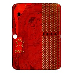Computer Texture Red Motherboard Circuit Samsung Galaxy Tab 3 (10.1 ) P5200 Hardshell Case