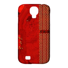 Computer Texture Red Motherboard Circuit Samsung Galaxy S4 Classic Hardshell Case (PC+Silicone)