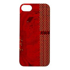 Computer Texture Red Motherboard Circuit Apple iPhone 5S/ SE Hardshell Case