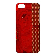 Computer Texture Red Motherboard Circuit Apple iPhone 5C Hardshell Case