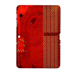 Computer Texture Red Motherboard Circuit Samsung Galaxy Tab 2 (10 1 ) P5100 Hardshell Case