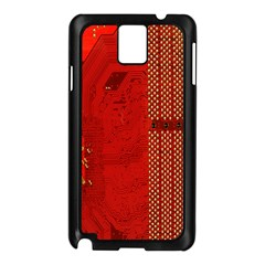 Computer Texture Red Motherboard Circuit Samsung Galaxy Note 3 N9005 Case (black)
