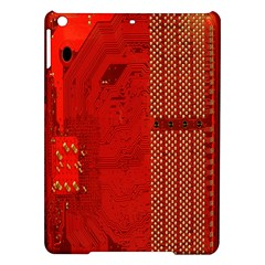 Computer Texture Red Motherboard Circuit iPad Air Hardshell Cases